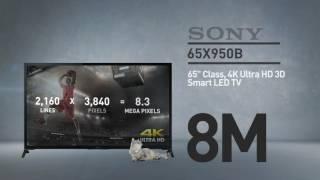 SONY 65X950B TV with 4K // Sony XBR X950B Series