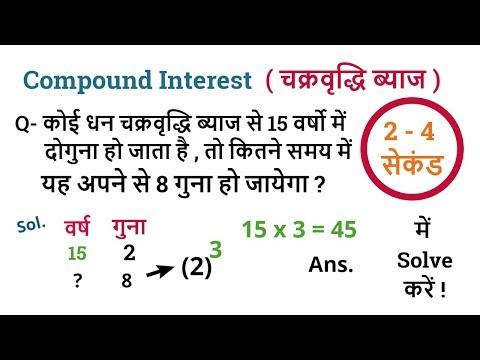 Compound Interest Hard Questions Tricks in Hindi   चक्रवृद्धि ब्याज   Math Tricks thumbnail