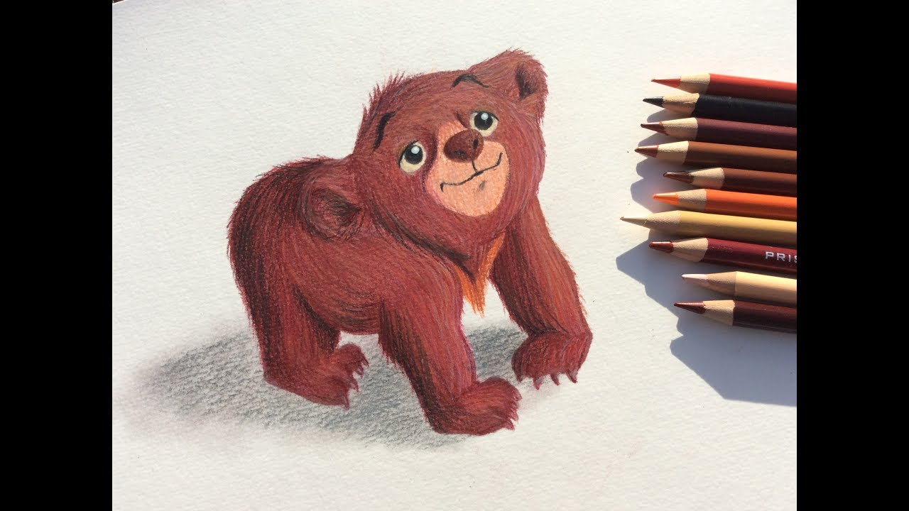 Comment dessiner koda le fr re des ours youtube - Dessiner ours ...
