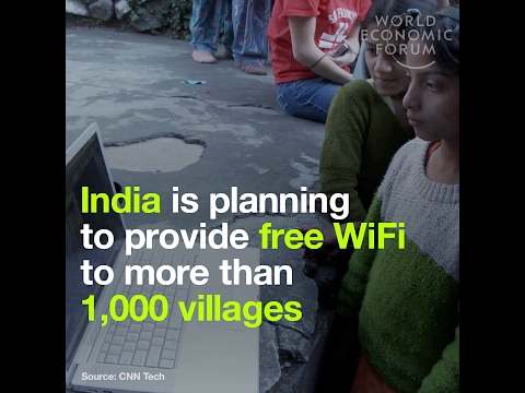 India is planning to provide free WiFi to more than 1,000 villages