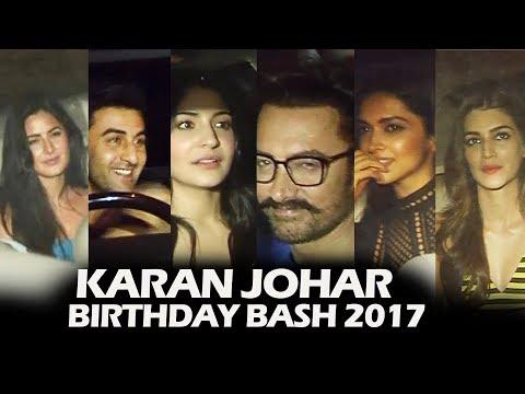 Karan Johar's Birthday Bash 2017 | FULL VIDEO | Deepika, Ranbir, Katrina, Aamir, Anushka, Kriti
