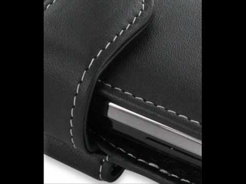 PDair Leather Case for Garmin-Asus nüvifone M10 - Horizontal Pouch Type (Black)