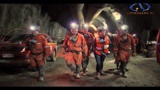 Unión túneles Mina Chuquicamata subterránea
