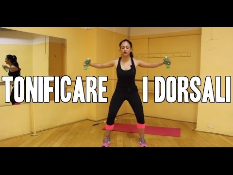 Come tonificare i dorsali esercizi per la schiena con - Come fare una palestra in casa ...