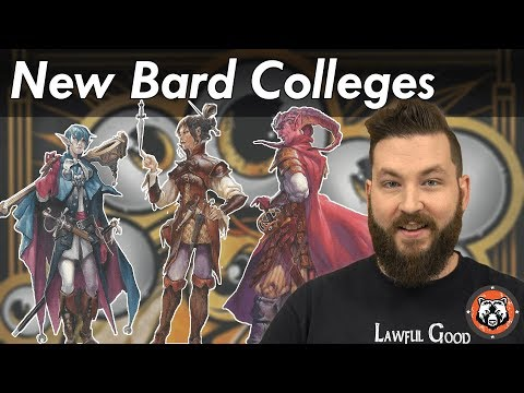 New Bard Colleges Xanathar's Guide - Dungeons and Dragon