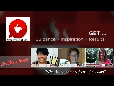 Creative Chat Cafe - What is the primary focus of a leader?