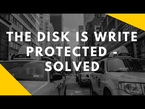 how to solve the problem of write protected pen drive