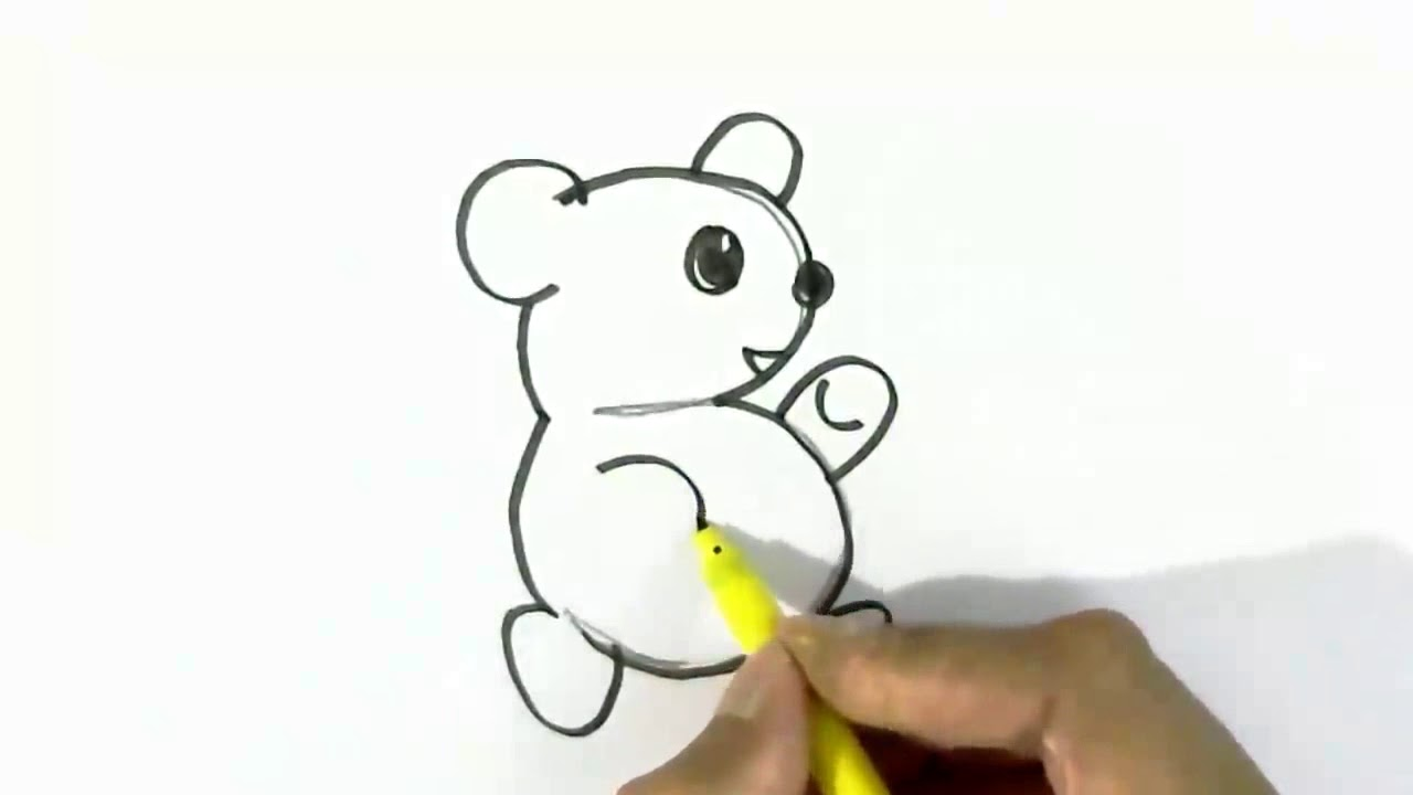 Copy Of How To Draw Baby Bear From 3 Easy Steps For Children