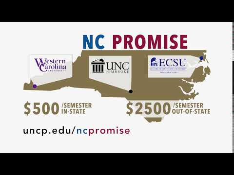 UNCP $500 in-state tuition and $2500 out-of-state tuition starting in 2017-18