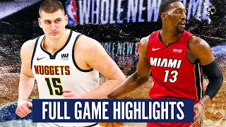 DENVER NUGGETS vs MIAMI HEAT - FULL GAME HIGHLIGHTS | 2019-20 NBA Season