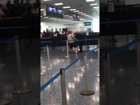 Crazy Man attacks CBP Officer at Miami International Airport