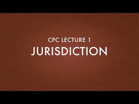 Jurisdiction of a court CPC lecture 1 Hindi