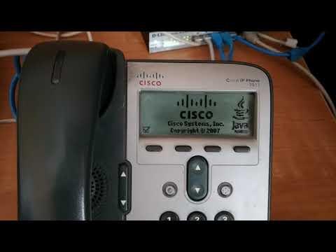 Процесс прошивки Cisco 7911 SIP - YouTube