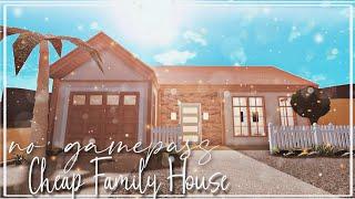 ROBLOX BLOXBURG: No gamepass Cheap Family House l 30k