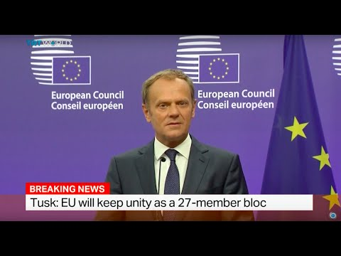 President of the European Council Donald Tusk talks after referendum in UK