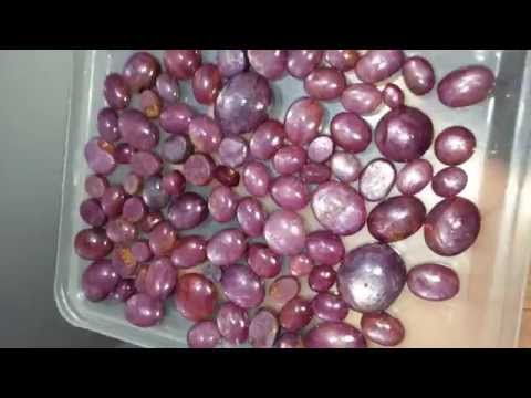 Beautiful Pink Star Rubies from Mysore indian old mines gem stone jewlary pigeon blood type part 1