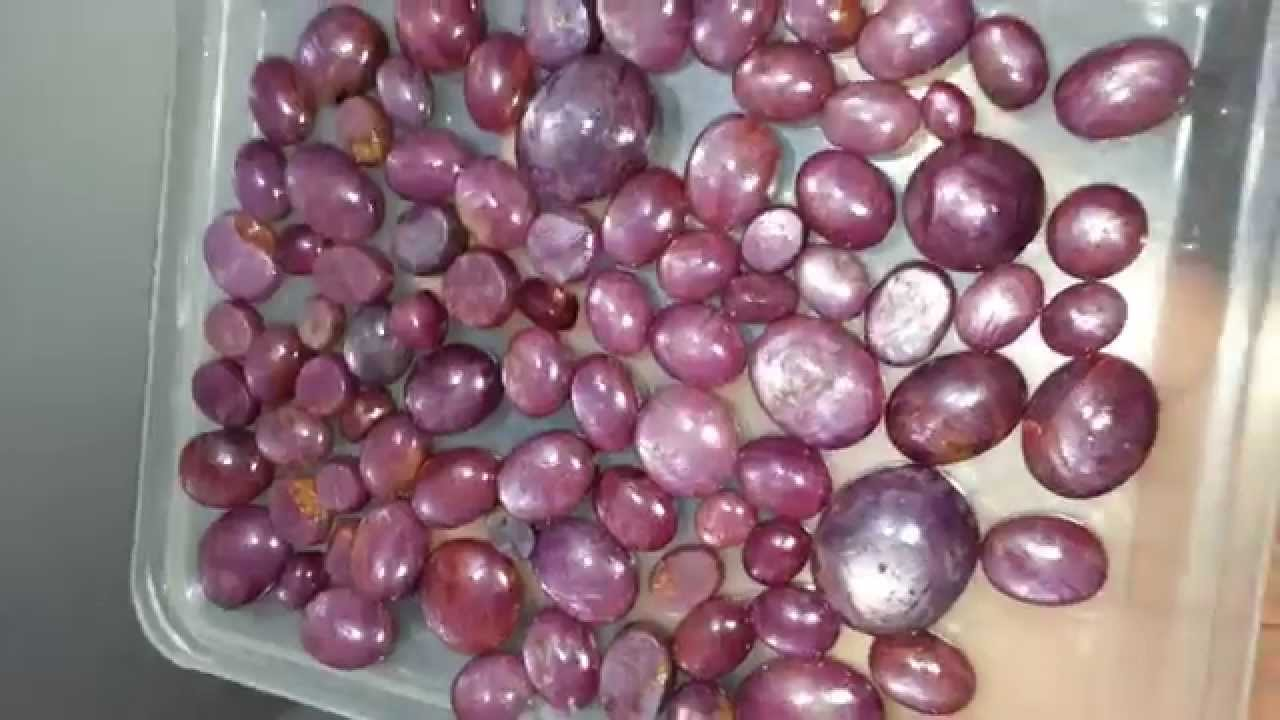 Beautiful Pink Star Rubies From Mysore Indian Old Mines