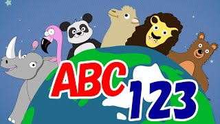 Learn Animals With Animals!|ABCs & 123s For Kids|Home Learning|Early Education|Toddler Fun Learning