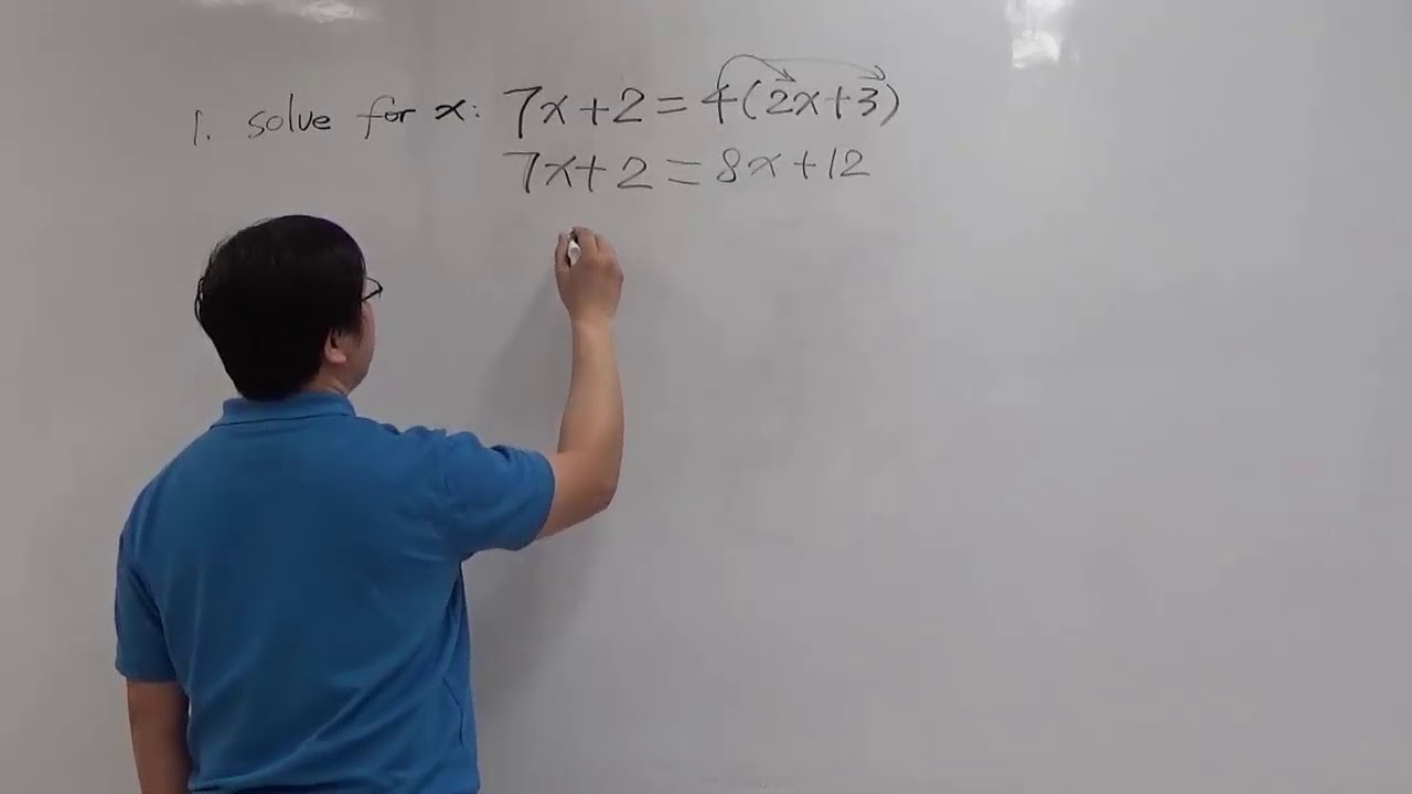 MAT150.5 Elementary Algebra Test 1 Practice Problem 10 Solution ...
