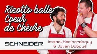 Risotto balls cœur de chèvre avec Imanol Harinordoquy - Les recettes du TOP 14
