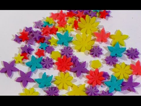 Цветы из мастики Украшения для торта из мастики Цветы, бабочки и звёздочки из мастики