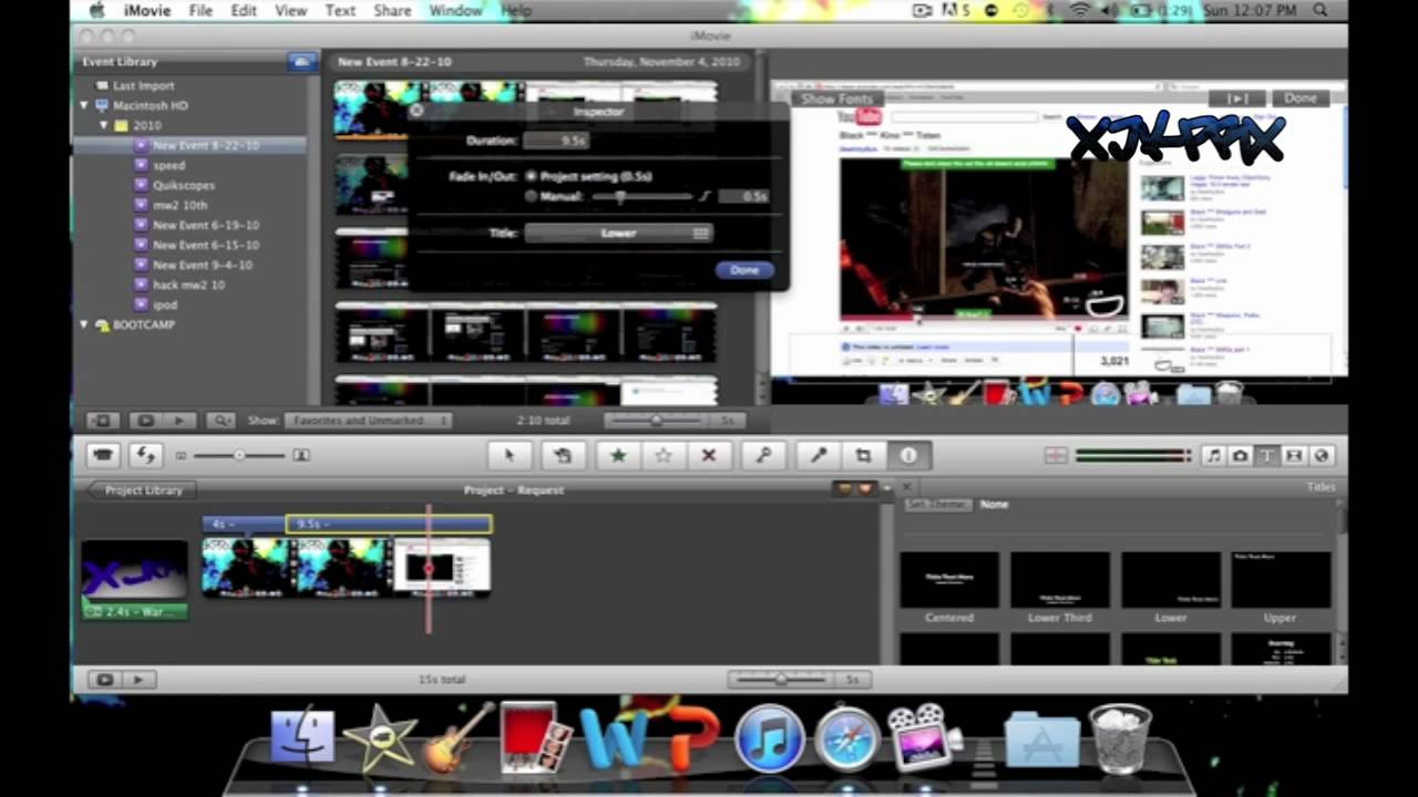 How To put Text in Your Videos iMovie   MAC - Request