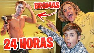 24 HORAS DE GUERRA DE BROMAS CON MIS AMIGOS !!