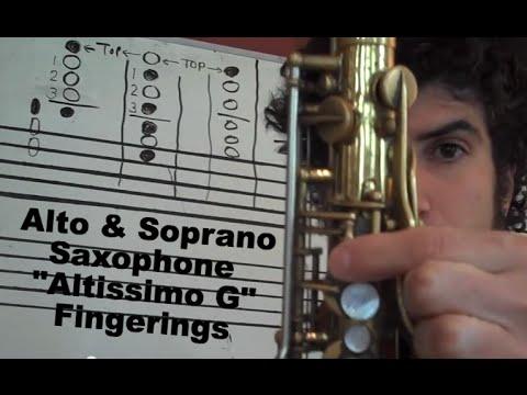 Alto sax altissimo finger chart