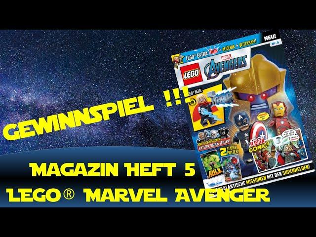 Lego Marvel Avengers Magazin Ausgabe 5 Thor - Gewinnspiel