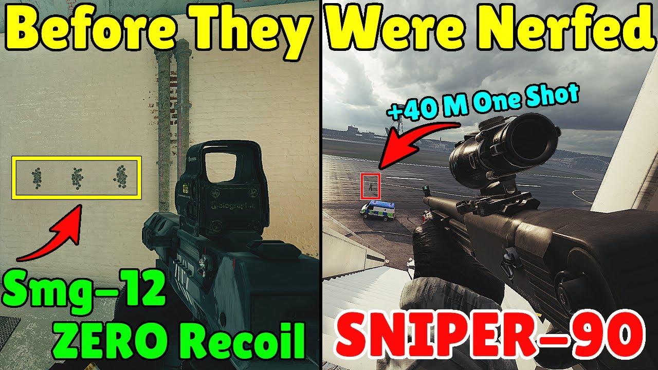 Why Ubisoft Had To Nerf SMG-12 & Frost Shotgun Years Ago ! - Rainbow Six Siege