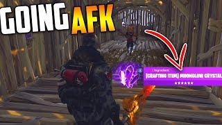 Going AFK Whilst Trading MOON GLOW CRYSTAL (RAREST ITEM) - Fortnite Save The World