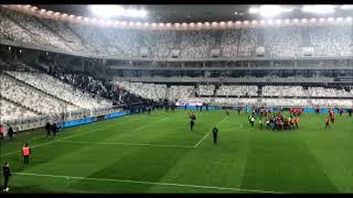L'envahissement des supporters marseillais après Bordeaux Marseille au Matmut Atlantique