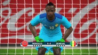 Goalkeeper Sadio Mane vs Goalkeeper Nordin Amrabat | Senegal vs Morocco | Penalty Shootout Gameplay