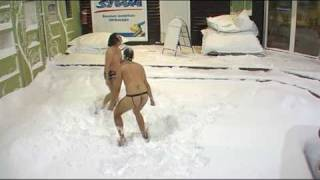 Big Brother Finland 4 (2008) - the final four celebrate in the snow