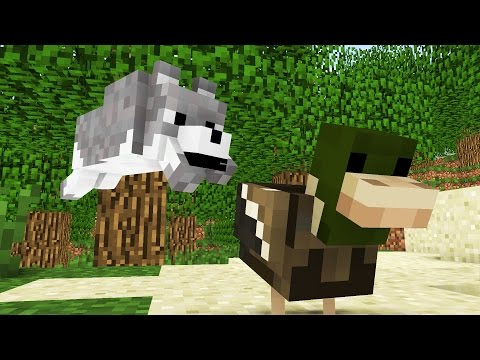 Wolf Life: The First Hunting -- Minecraft Animation