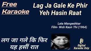 Lag Ja Gale   लग जा गले   Karaoke [HD] - Karaoke With Lyrics Scrolling
