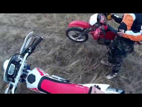 Enduro  покатушки с другом Серегой на  Honda XR 650 и  Honda XR 250