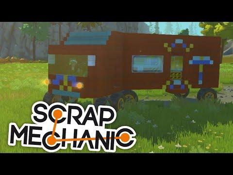 DOKÁŽEME DÁT AUTO DO TAHAČE?:D - Scrap Mechanic! #6 w/Porty