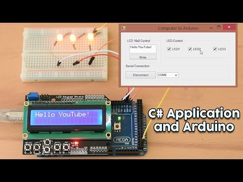 Arduino Tutorial: C# to Arduino Communication. Send data and commands from Computer to an Arduino.