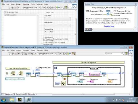 PTP Sequencer shipped Examples and Test Executive Sample Project