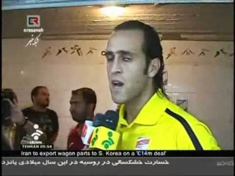 Iran - Full Interview of Ali Karimi With Media Before Getting Sacked - Aug 2010