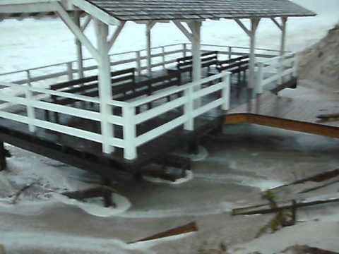 Hurricane Sandy 5th St Beach Haven NJ 1st High Tide