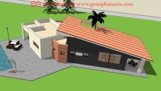 Modelo Costa Blanca. Chalet De Diseño Moderno Por Grupo Katania Para Construir En Alicante Y Murcia