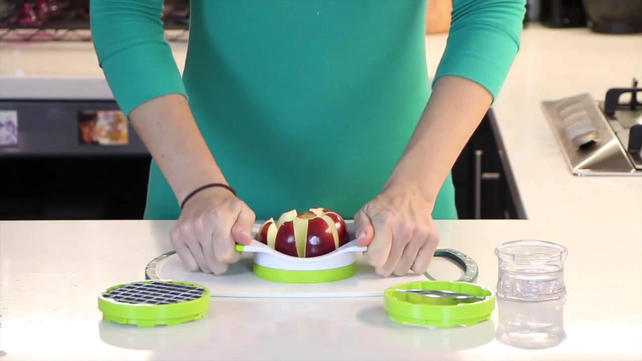 Savant Kitchen - Easy Grip Thin Apple Slicer - YouTube