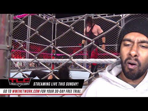 Kane Returns; Roman Reigns vs. Braun Strowman - Steel Cage Match: Raw, Oct. 16, 2017(REACTION)