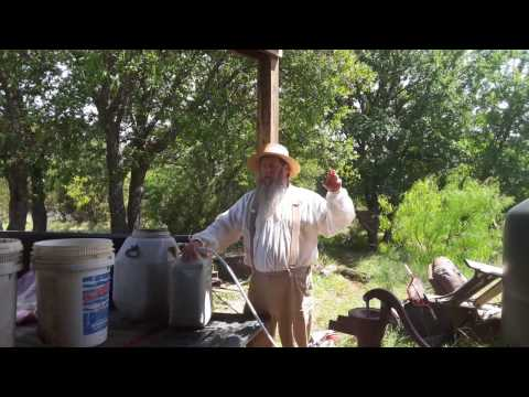 April 2017 Off-Grid shower/water redundant gravity/solar water system update