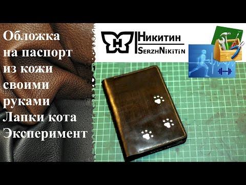 Обложка на паспорт из кожи своими руками Лапки кота Эксперимент