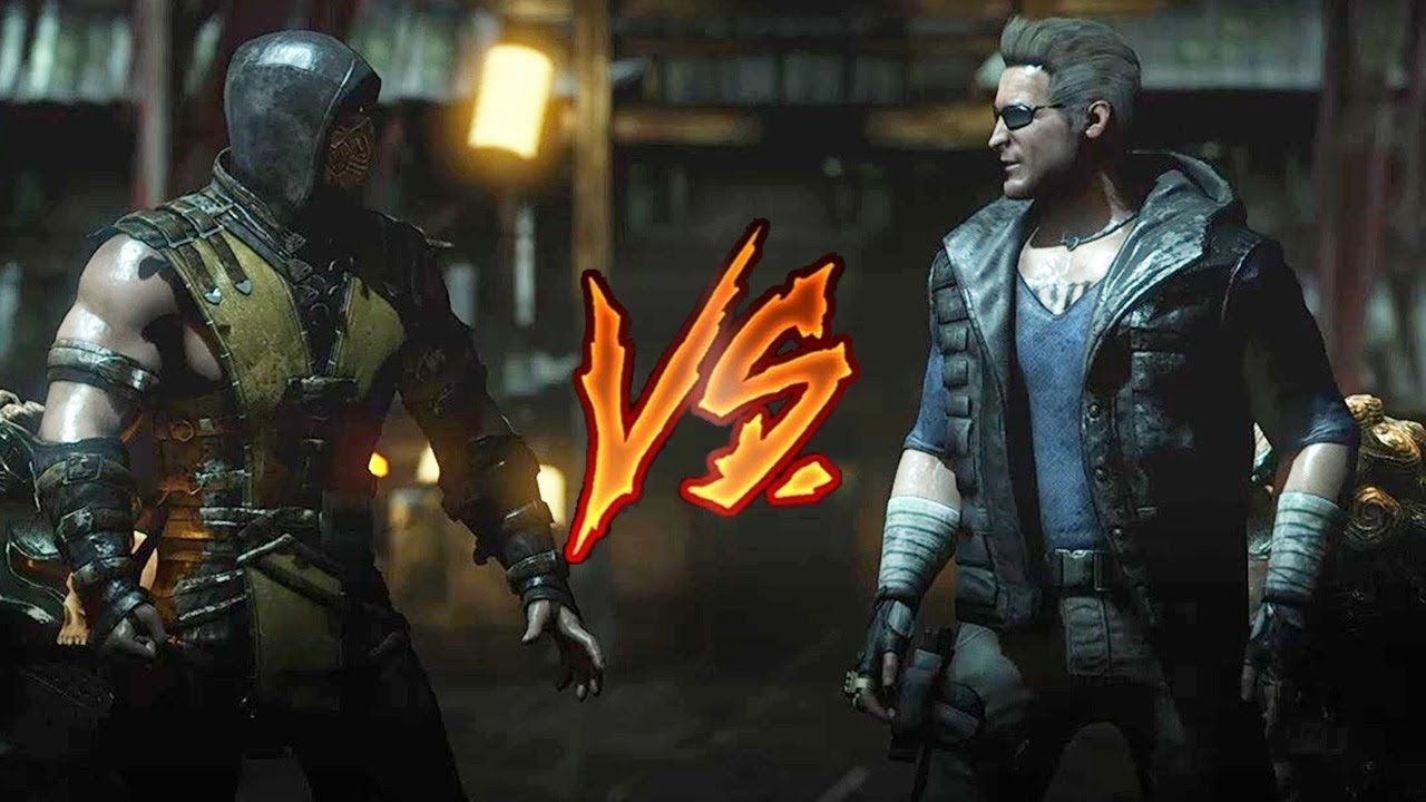 Mortal Kombat X Scorpion Vs Johnny Cage Very Hard Youtube