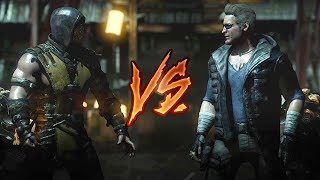 Mortal Kombat X - Scorpion Vs. Johnny Cage (VERY HARD)