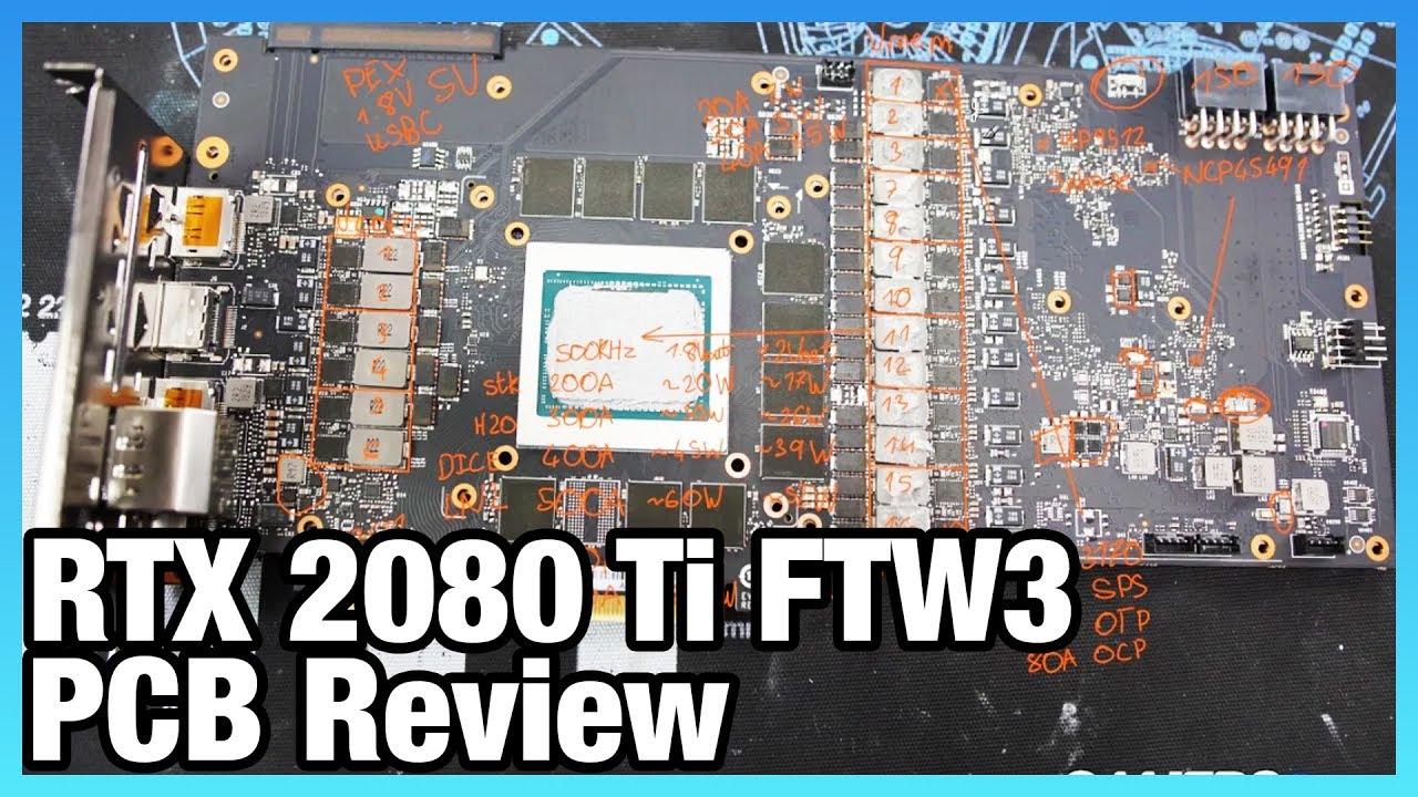 VRM Analysis of EVGA RTX 2080 Ti FTW3 Ultra